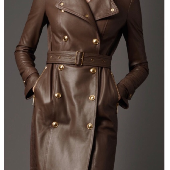 famous brand new arrival official price Burberry Leather Trench Coat